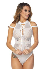 Banded Sleeve Bodysuit - PlaythingsMiami