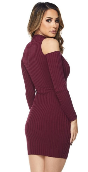 JERSEY DRESS ZIPPER FRONT - PlaythingsMiami