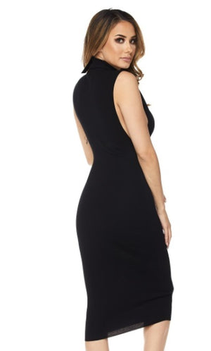 TURTLE NECK DEEP ARMHOLE DRESS - PlaythingsMiami