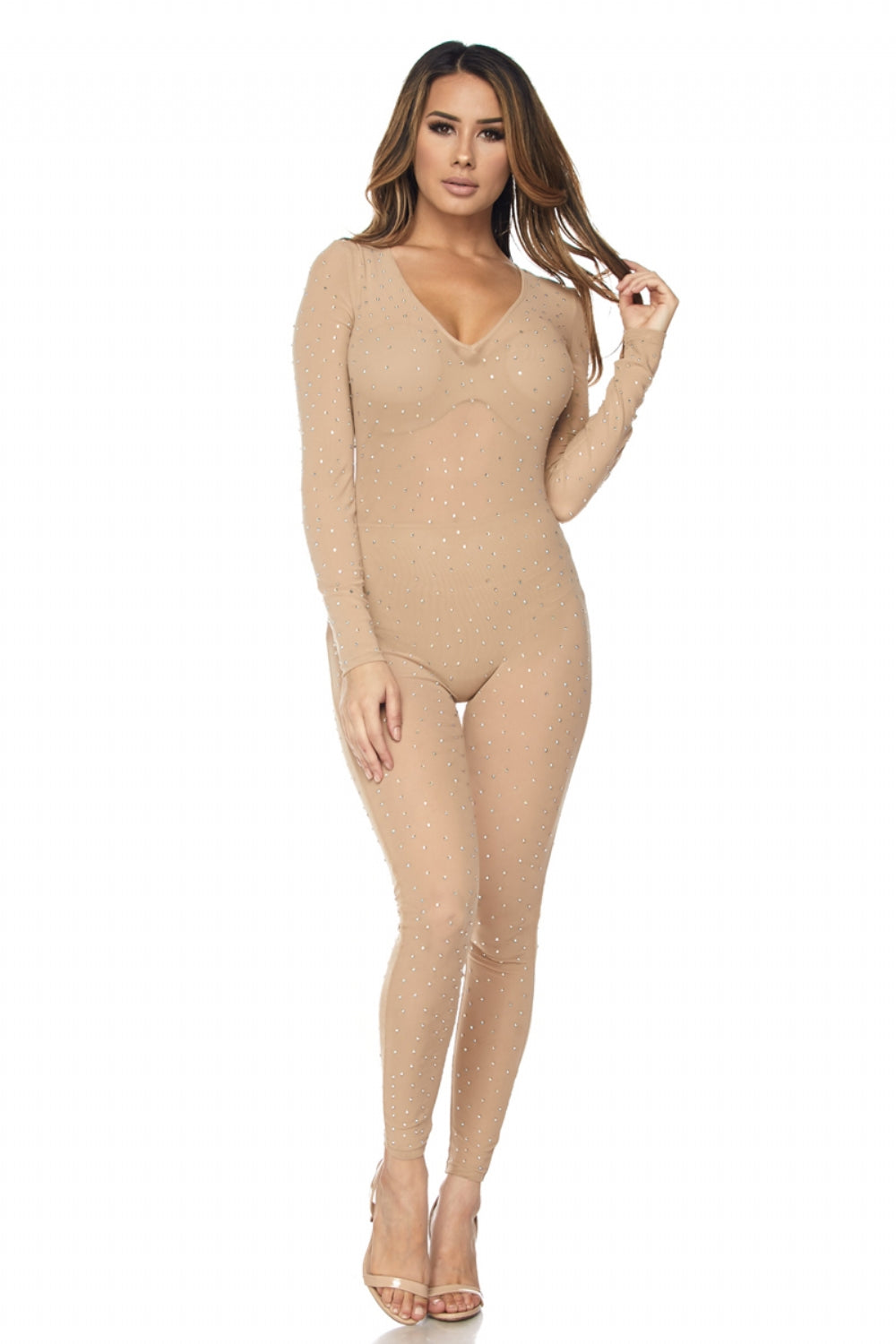 Rhinestone studded jumpsuit - PlaythingsMiami
