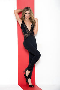 Plunging Neck line Jumpsuit 2544 - PlaythingsMiami
