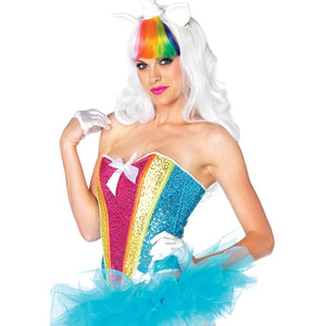 Rainbow Sequin Corset - PlaythingsMiami