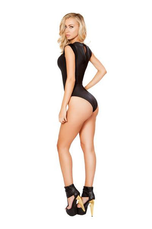 Romper with V-Shape Sheer Detail - PlaythingsMiami