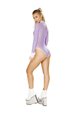 1pc Sheer Long Sleeved Romper with Collar - PlaythingsMiami