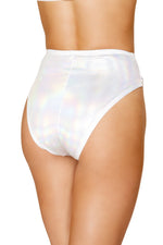 1pc High-Waisted Shorts with Zipper Front Closure - PlaythingsMiami