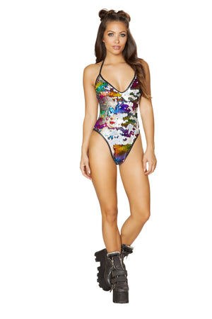 1pc Two-Tone Sequin Romper - PlaythingsMiami