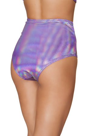 3609 - 1pc Shimmer High Waisted Shorts - PlaythingsMiami
