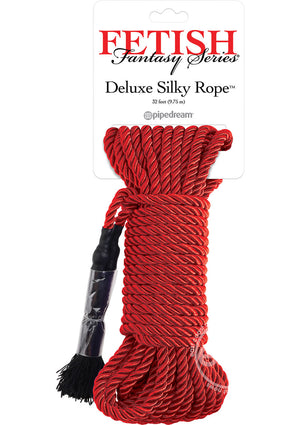Fetish Fantasy Series Deluxe Silk Rope - Red
