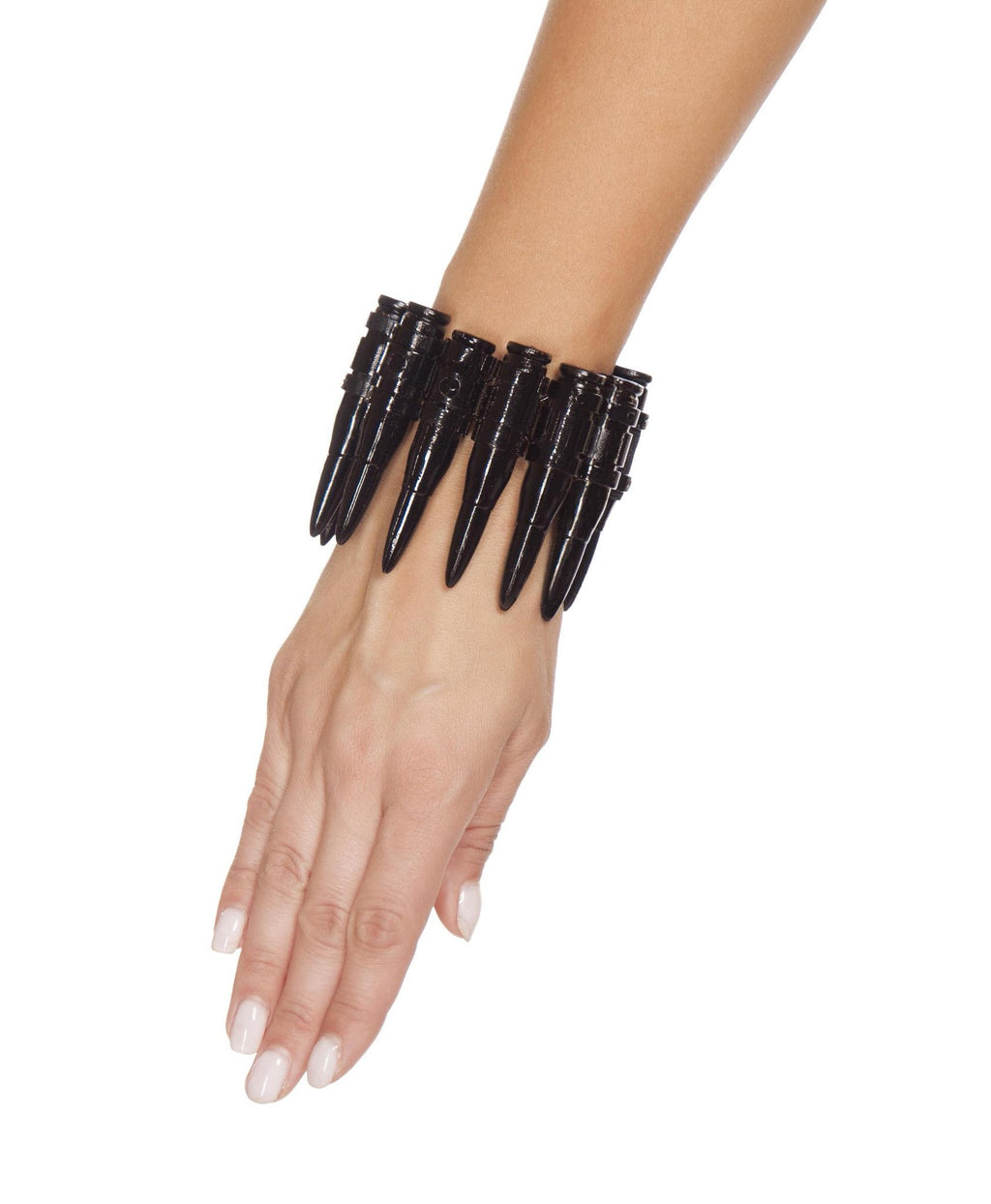 4562 - Black Bullet Wrist Cuff - PlaythingsMiami