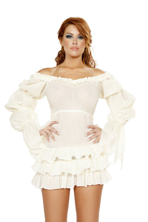Ruffled Pirate Dress with Sleeves & Multi Layered Skirt - PlaythingsMiami