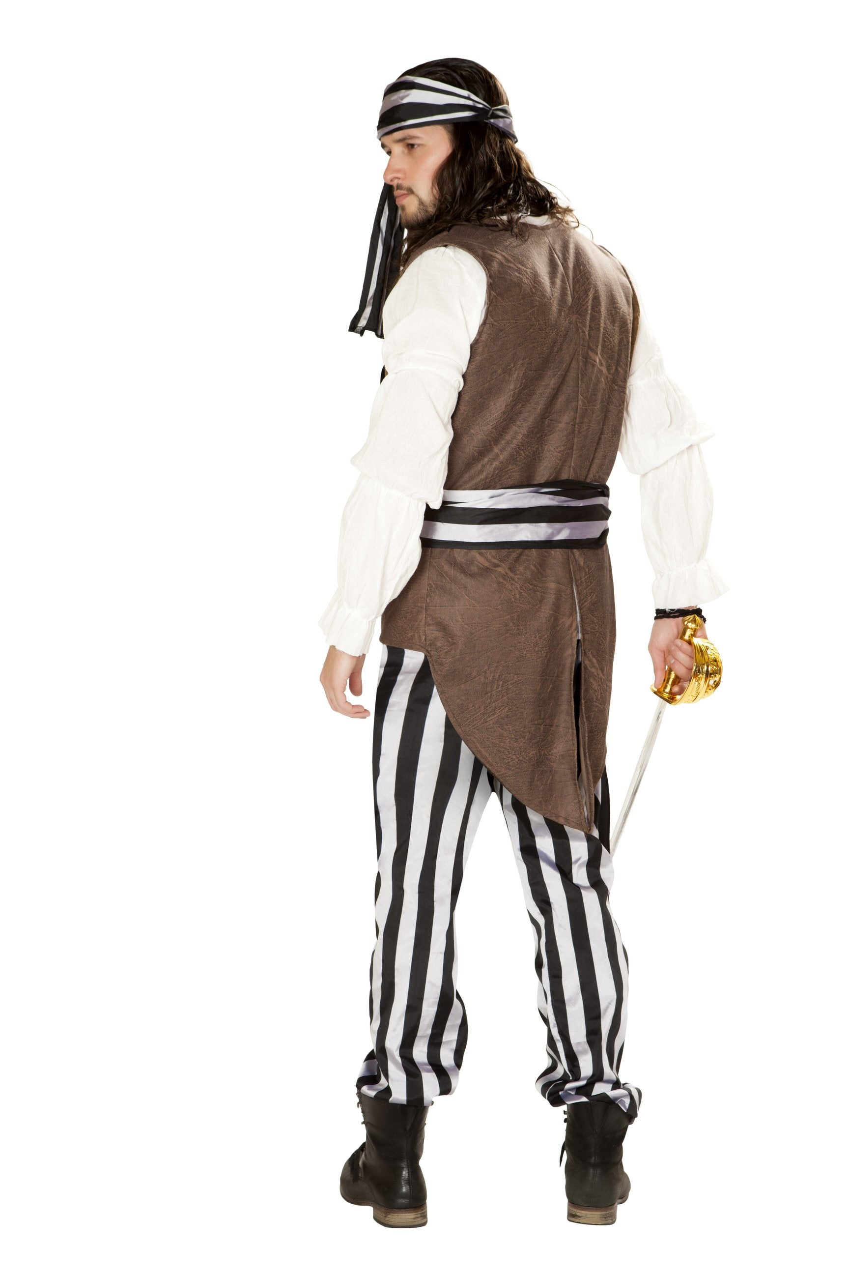 4859 - Roma Costume Mens 5pc Pirate Raider
