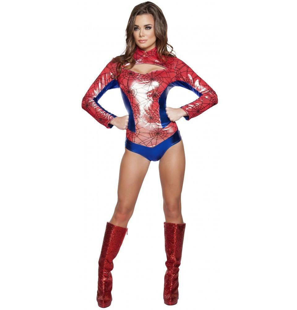 4604 1pc Sexy Spider Vigilante - Roma Costume New Arrivals,New Products,Costumes - 1