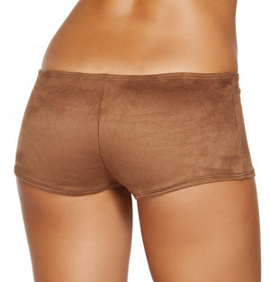 SH224 Brown Suede Boy Shorts - Roma Costume New Products,Shorts,New Arrivals - 2