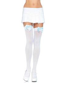 Bow Thigh Highs Stockings - PlaythingsMiami