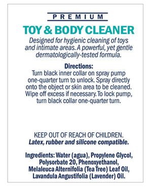 Swiss Navy Toy & Body Cleaner - 6 oz Bottle