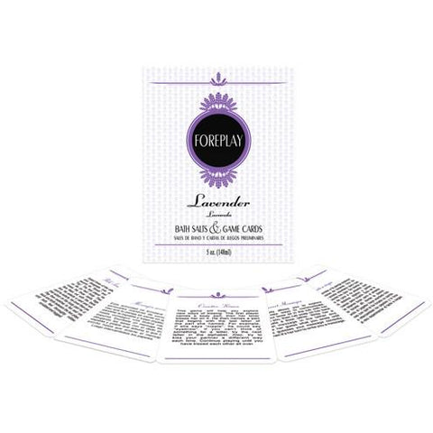 Foreplay Lavender Bath Salts plus Game Cards