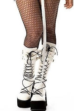 White Boots Black Laces