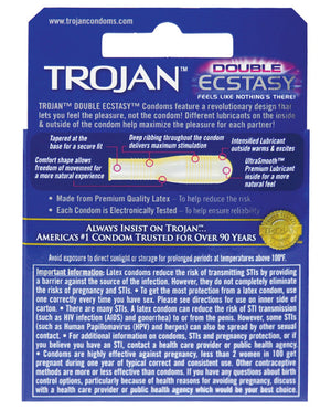Trojan Double Ecstasy Condoms - PlaythingsMiami