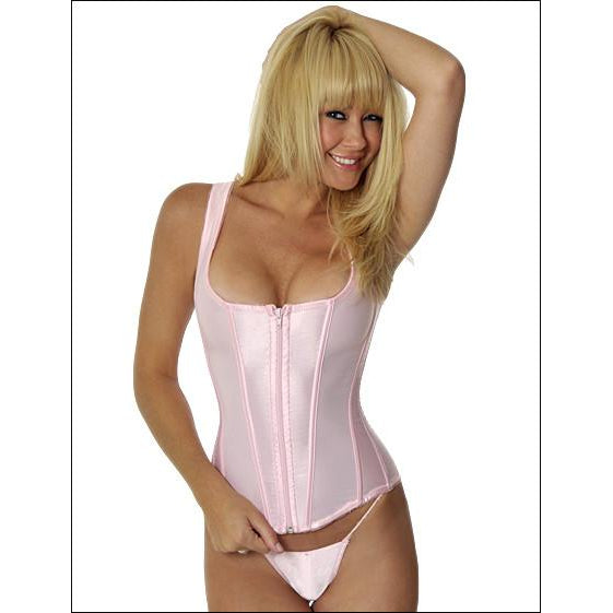 Corset with Zipper Pink