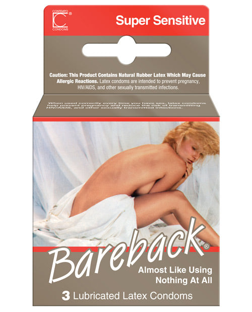 Contempo Bareback Condom - Box of 3 - PlaythingsMiami