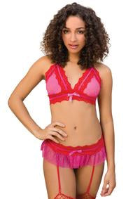 Be Mine Garter Skirt Set - PlaythingsMiami
