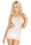 Crochet Lace Halter Dress - PlaythingsMiami