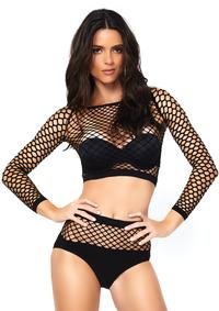 Crop Top and Matching High Waist Bottom. - PlaythingsMiami