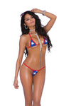 Star bikini top and matching g-string - PlaythingsMiami