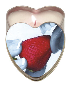 Earthly Body Suntouched Hemp Edible Candle - 4.7 oz Heart Tin Strawberry - PlaythingsMiami