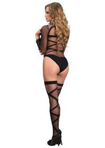 Criss Cross Teddy and Thigh Highs - PlaythingsMiami