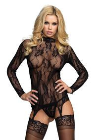 Floral Lace Garter top and G-string.