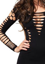 Shredded Mini Dress - PlaythingsMiami
