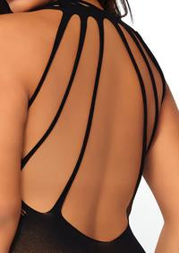 Floral Lace Body Stocking Plus Size - PlaythingsMiami