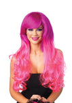 Fuschia/Pink Two Tone Wig for Rave Festival Costume accessory