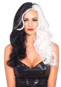 Two Tone Wig Black/White - PlaythingsMiami