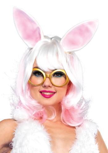 Bunny two-tone wig with latex ears.