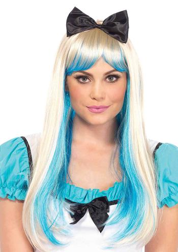 Alice two-toned wig with attached bow