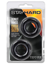 Blush Stay Hard Donut Rings - Oversized Pack of 2