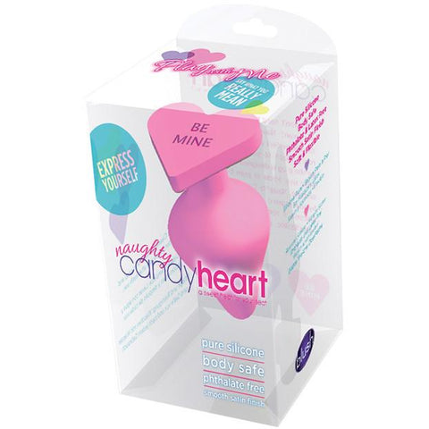 Naughty Candy Heart Be Mine Plug - Pink