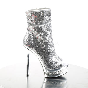 "6"" Sequin Open Toe Stiletto Heels Blondie-R - PlaythingsMiami"