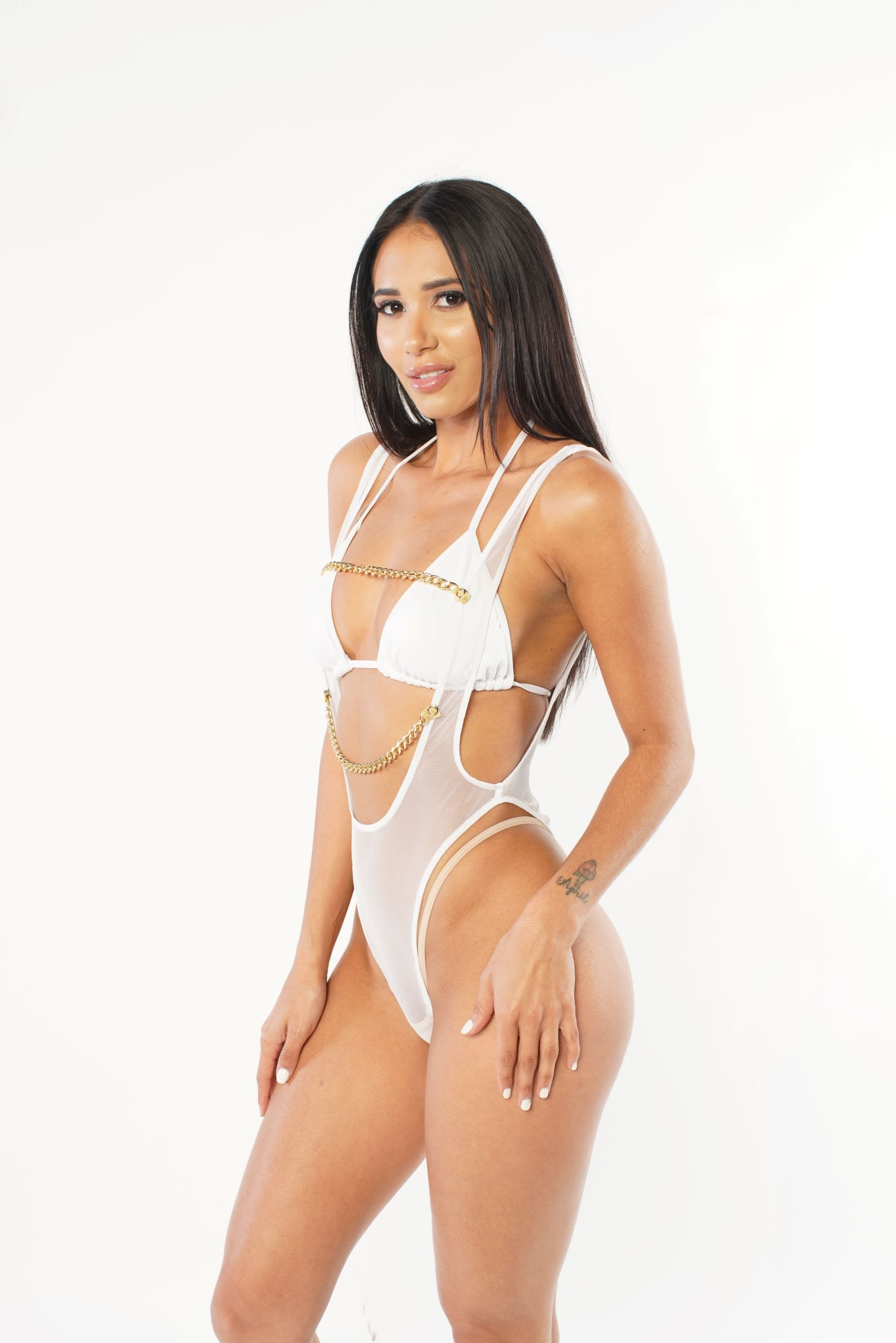 Exclusive Chained Sheer Bodysuit
