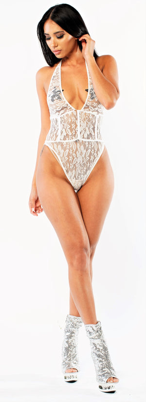Exclusive Sexy Sheer Lace Bodysuit Pts02