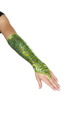 Pair of Fingerless Elbow Length Mermaid Gloves - PlaythingsMiami