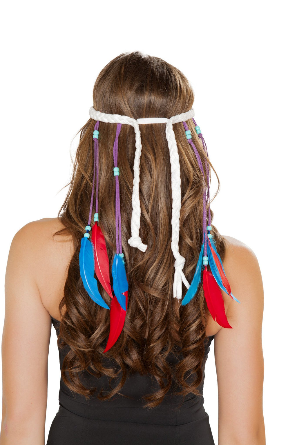 White Native American Headband - PlaythingsMiami
