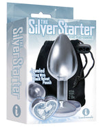 The 9's The Silver Starter Bejeweled Heart Stainless Steel Plug