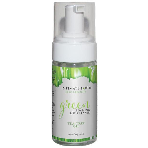 Intimate Earth Green Tea Tree Oil Foaming Toy Cleaner 100ml - PlaythingsMiami