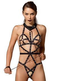 Studded Bondage Teddy - PlaythingsMiami