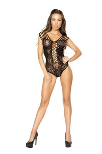 Strappy Romper Bodystocking Teddy - PlaythingsMiami