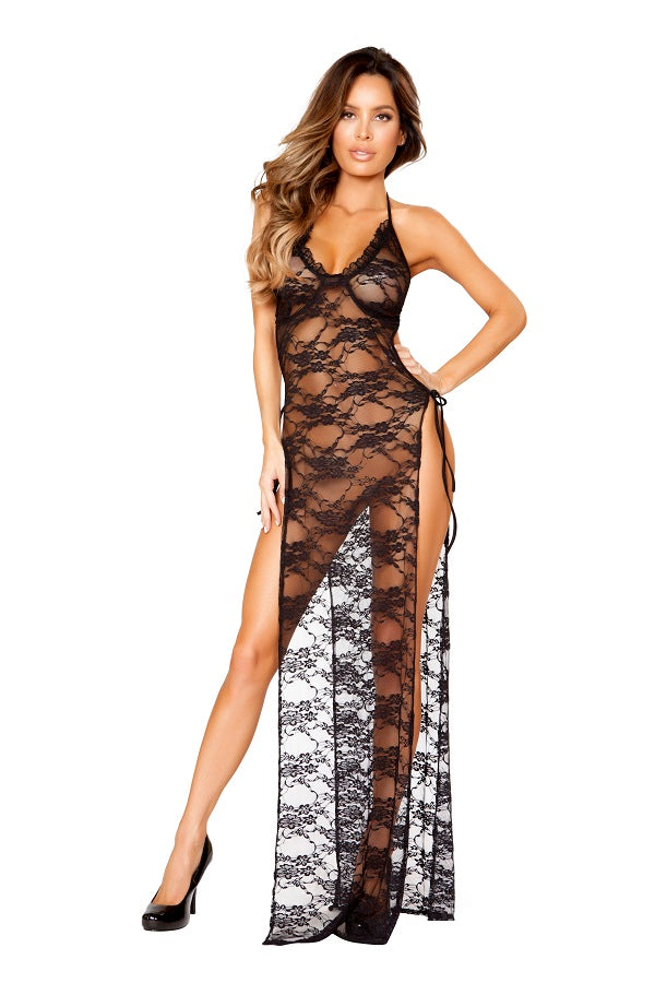 Gown with Tied Straps - PlaythingsMiami