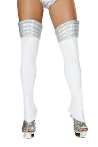 White Space Girl Leggings - PlaythingsMiami